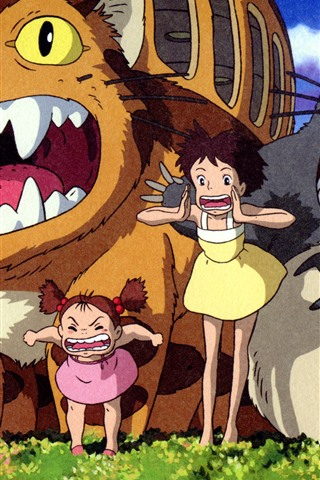 iPhone Wallpaper My Neighbor Totoro, Japanese anime