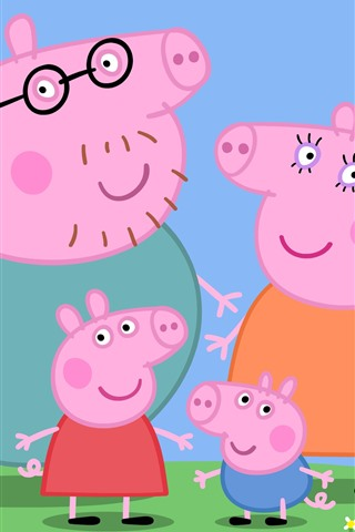 iPhone Wallpaper Peppa Pig, classic anime