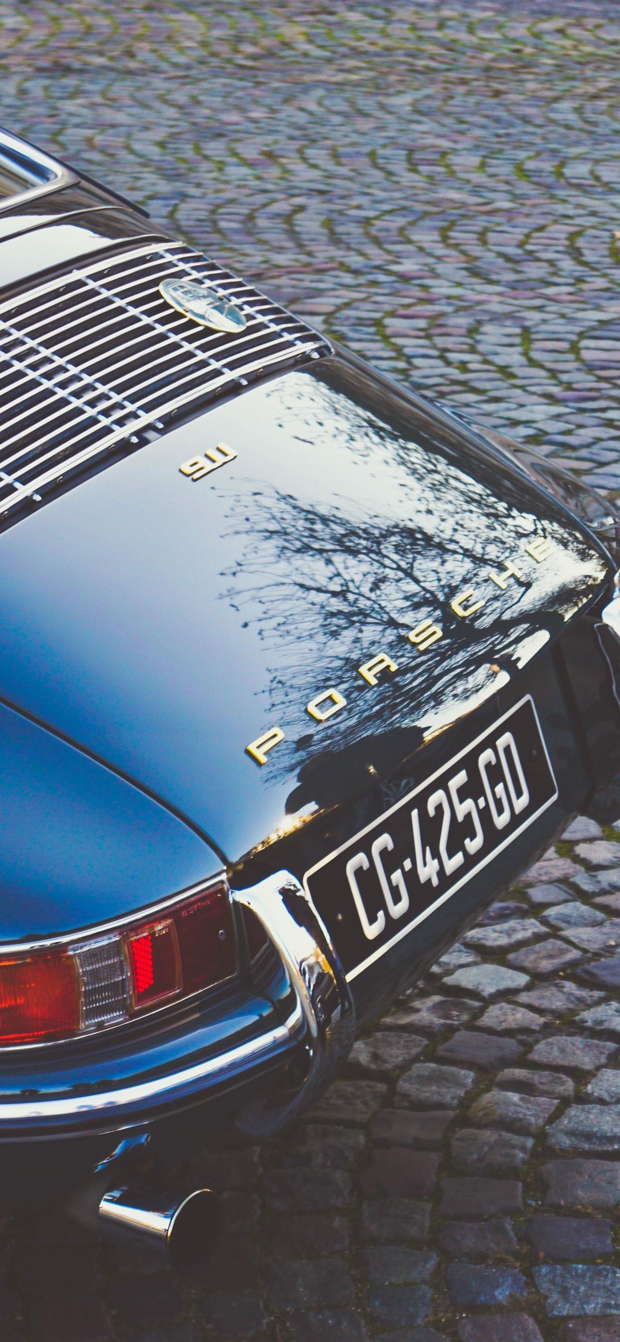 Porsche 911 supercar rear view