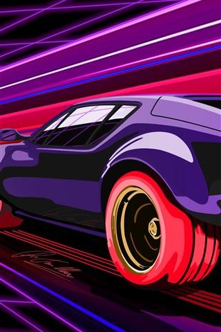 Purple Supercar Speed Art Picture 1080x1920 Iphone 8 7 6 6s Plus