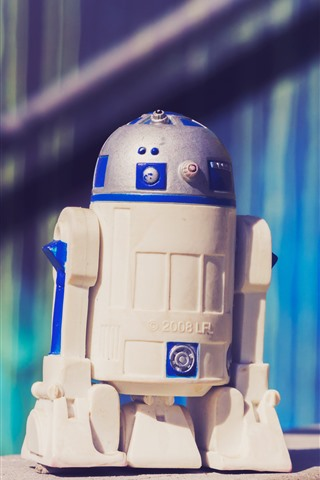 iPhone Wallpaper R2-D2 robot toy