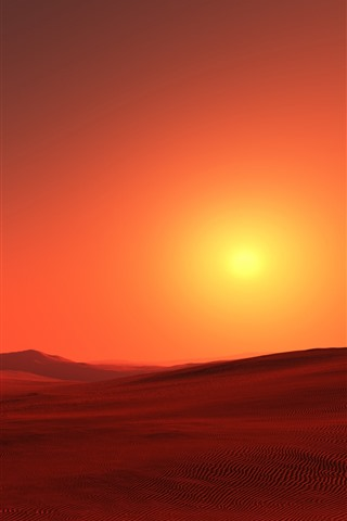 iPhone Wallpaper Red desert, sunshine