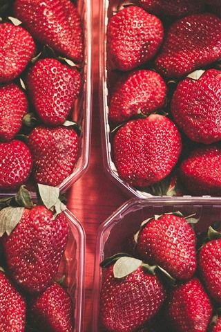 iPhone Wallpaper Ripe strawberries, fruit