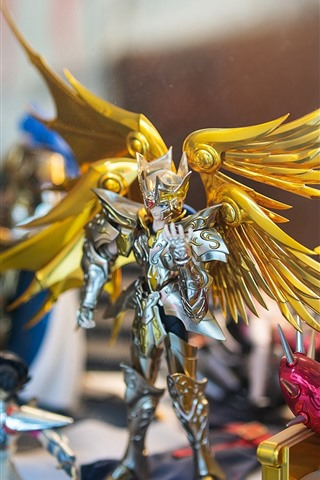 iPhone Wallpaper Saint Seiya, Hyoga, wings, toy