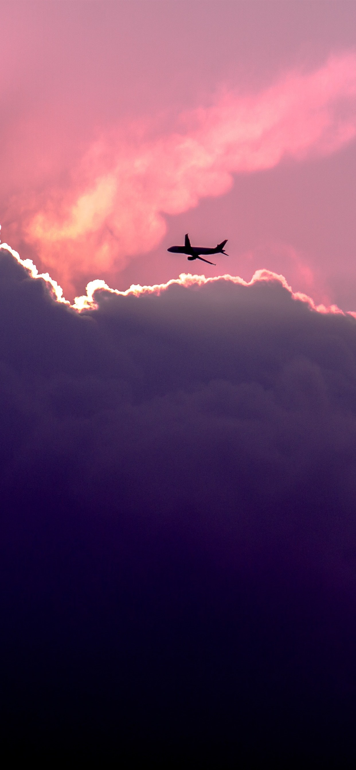 Wallpaper Sky Clouds Plane 5120x2880 Uhd 5k Picture Image