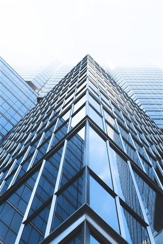 iPhone Fondos de pantalla Rascacielos, ventanas de cristal