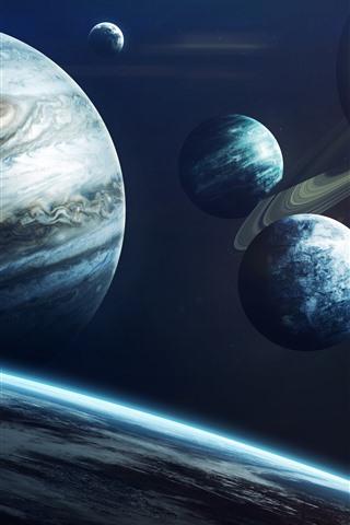 iPhone Papéis de Parede Sistema solar, planetas, júpiter, universo