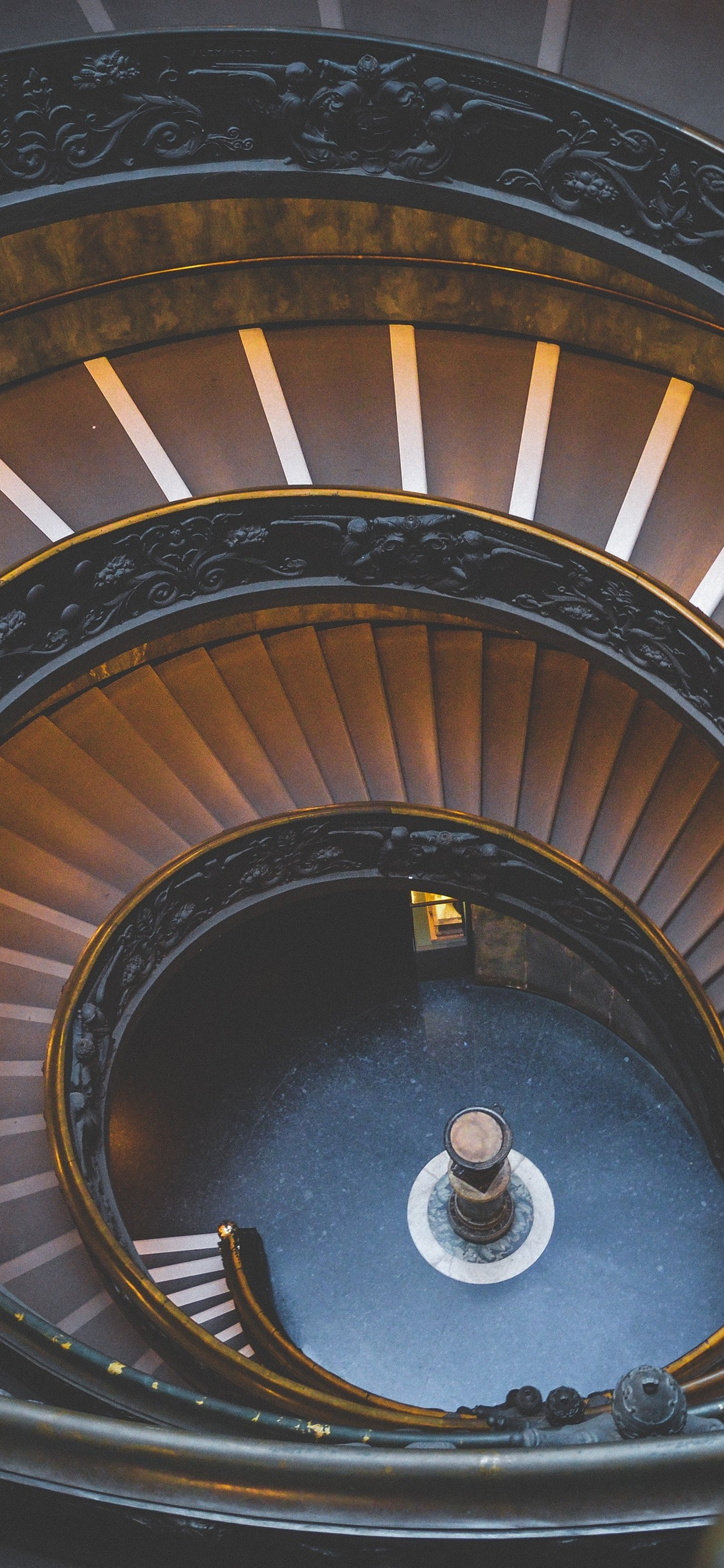 Stairs Spiral Interior 1242x2688 Iphone Xs Max Wallpaper
