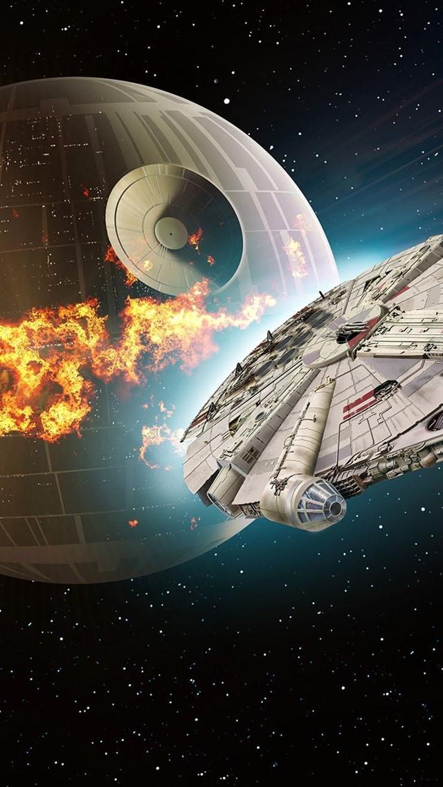 Star Wars Death Star Nave Espacial 640x1136 Iphone 55s