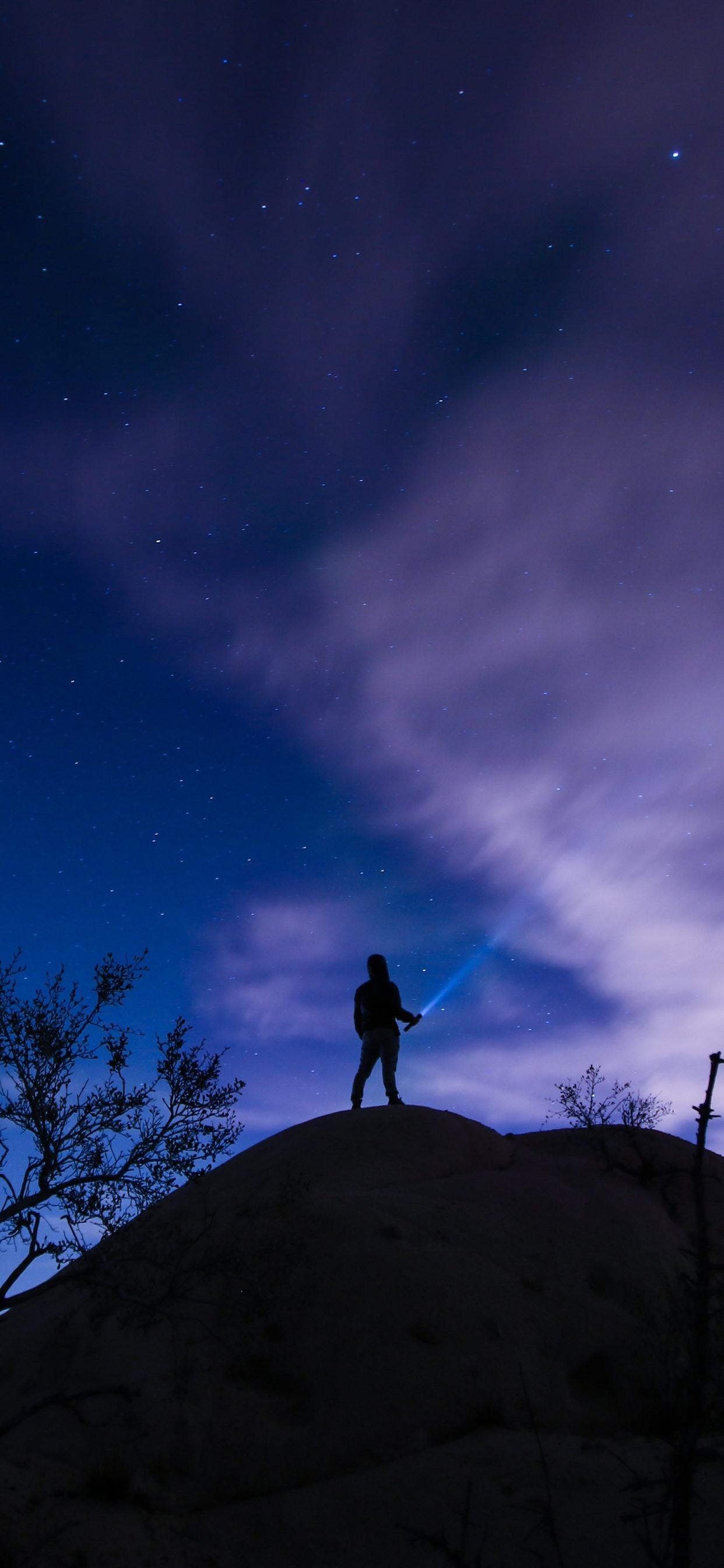 壁紙 星空 空 夜 男 シルエット 51x Uhd 5k 無料のデスクトップの背景 画像