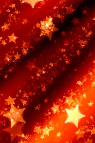 iPhone Fondos de pantalla Estrellas, brillo, rojo, cuadro abstracto