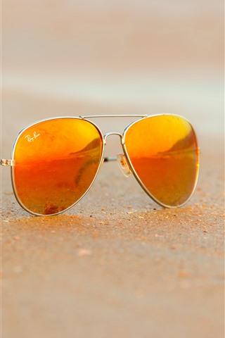 iPhone Papéis de Parede Sunglass, praia, areia