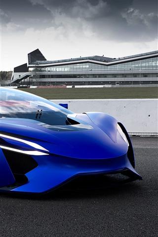 iPhone Fondos de pantalla TechRules AT96 concepto de coche azul