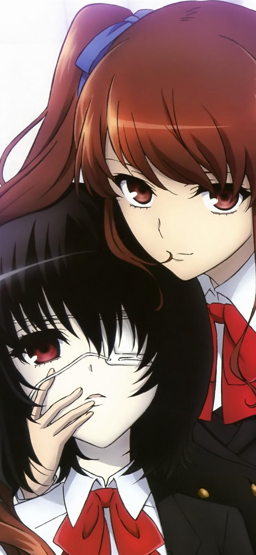 Wallpaper Two Anime Girls Schoolgirl 3840x2160 Uhd 4k
