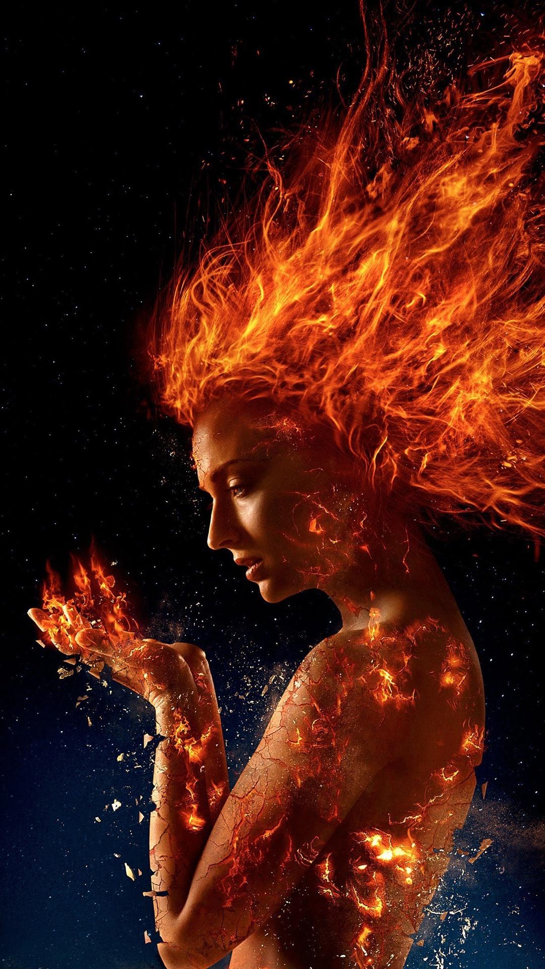 X Men Dark Phoenix Girl Fire 1080x1920 Iphone 8766s