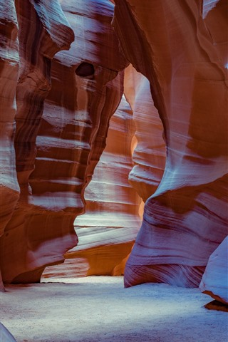 iPhone Wallpaper Antelope Canyon, rocks, USA