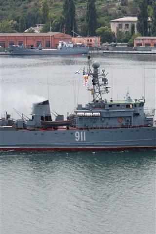 iPhone Wallpaper Battleship, river