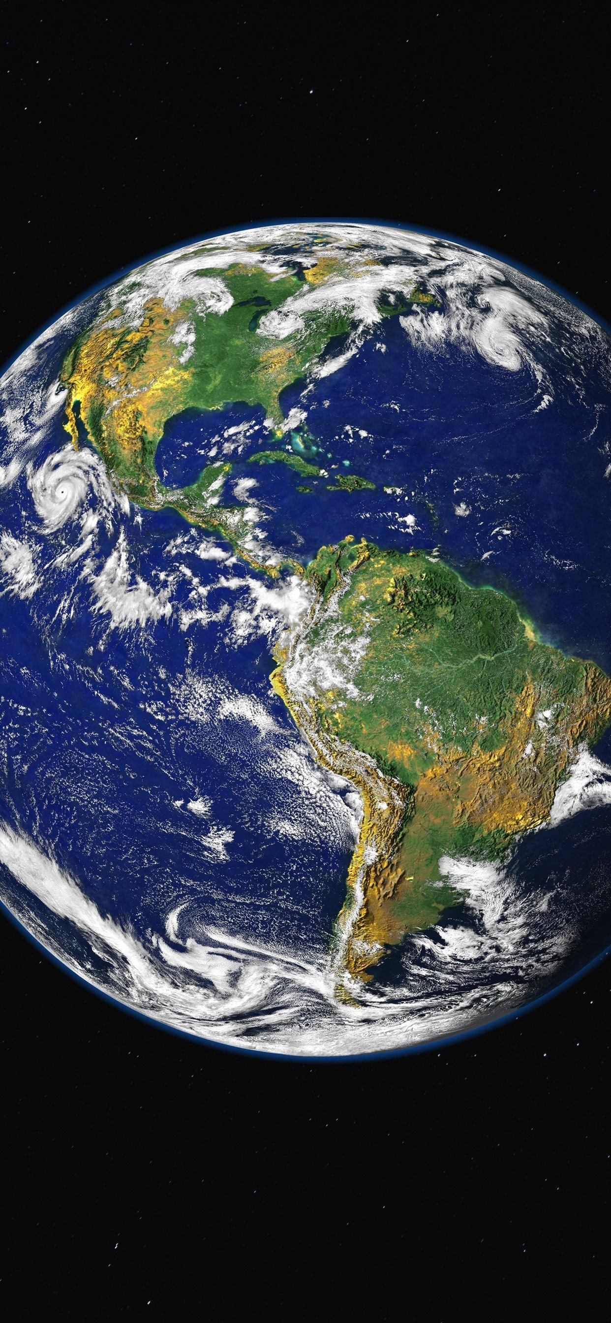 Beautiful Earth Land Sea Space 1242x2688 Iphone Xs Max