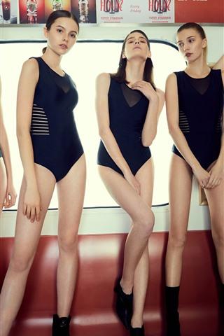 iPhone Wallpaper Beautiful bikini girls, sexy