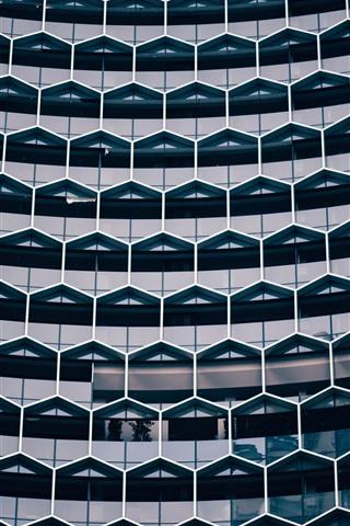 iPhone Wallpaper Building architecture, windows