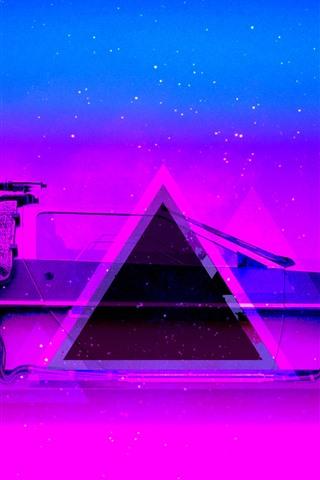 iPhone Wallpaper Car, blue and purple, art design