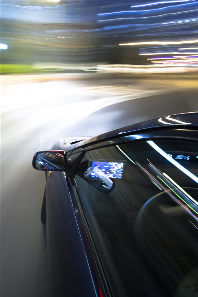 Wallpaper Car Speed Light Lines 5120x2880 Uhd 5k Picture