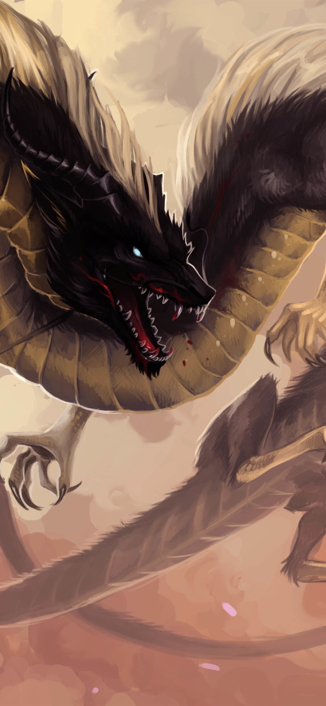 Chinese Dragon Fantasy Animal 1125x2436 Iphone Xsx