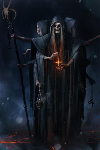 iPhone Wallpaper Demon, horror, art picture