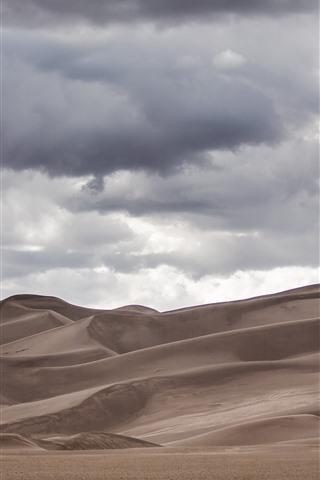 iPhone Wallpaper Desert, clouds, sky
