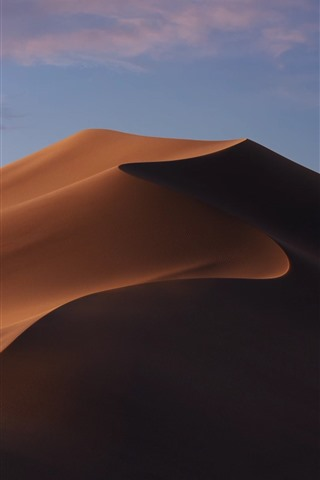 iPhone Wallpaper Desert, dune, nature landscape