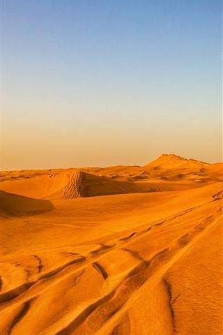 iPhone Wallpaper Desert, sky, clouds, nature landscape