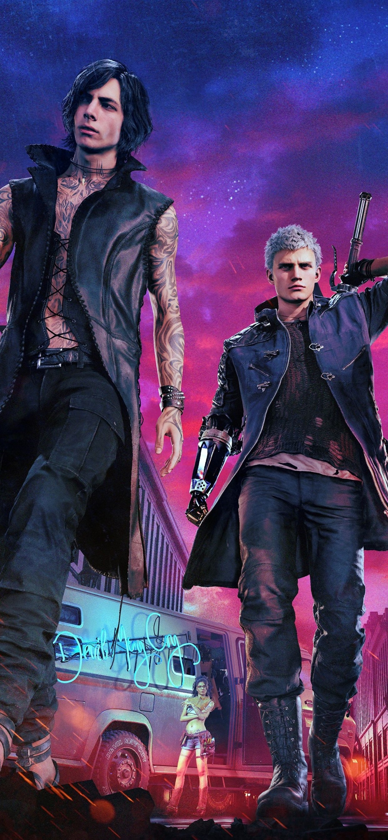 Devil May Cry 5 Ps4 Game 1242x2688 Iphone 11 Pro Xs Max Wallpaper