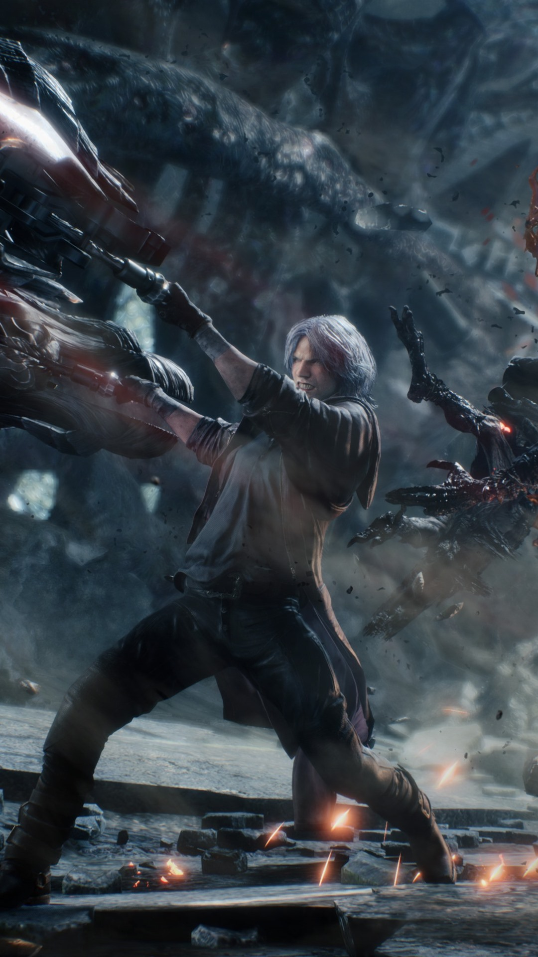 Devil May Cry 5 Fight 1080x1920 Iphone 8 7 6 6s Plus Wallpaper