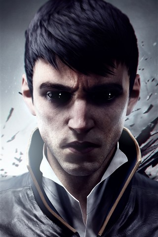 iPhone Wallpaper Dishonored 2, video game, man