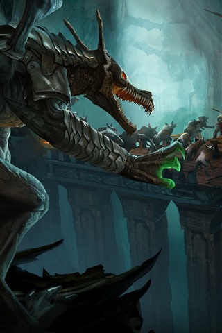iPhone Wallpaper Dragons, battle, art picture