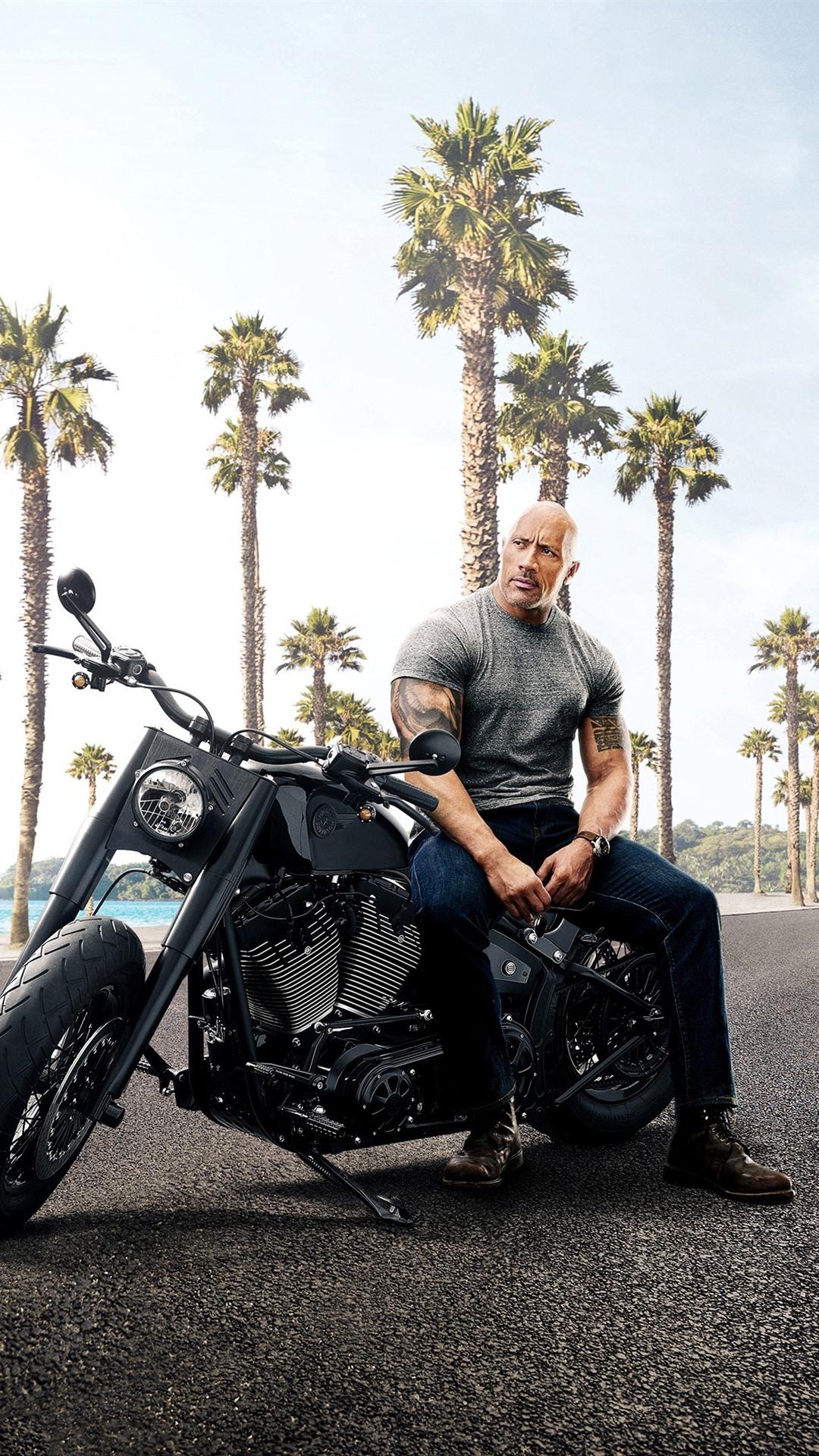 Dwayne Johnson Jason Statham Fast And Furious 8 1080x1920 Iphone
