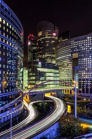 iPhone Wallpaper France, Paris, city, night, buildings, lights