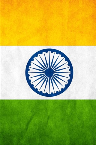 iPhone Wallpaper India flag