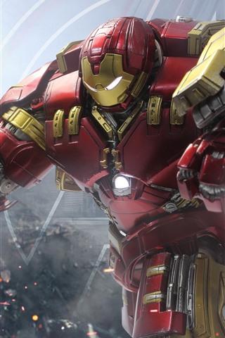iPhone Wallpaper Iron Man, Hulkbuster