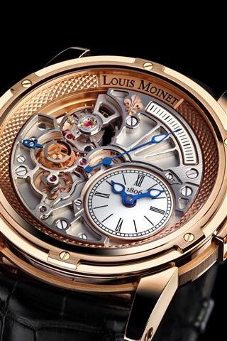 iPhone Wallpaper Louis Moinet wrist watch