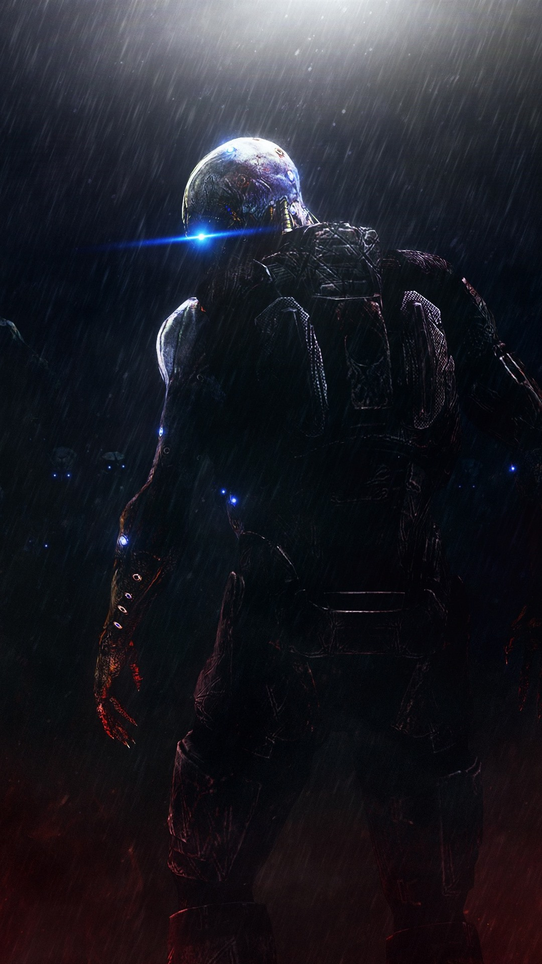 Monster Rain Night Mass Effect 1080x1920 Iphone 8 7 6 6s