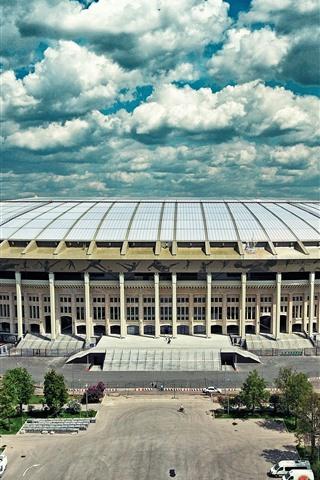 iPhoneの壁紙 モスクワ、ルジニキ、スタジアム、都市、ロシア