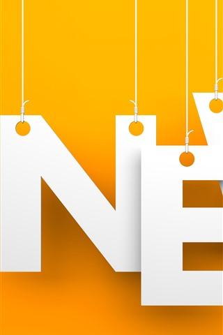 iPhone Wallpaper News, orange background, creative picture
