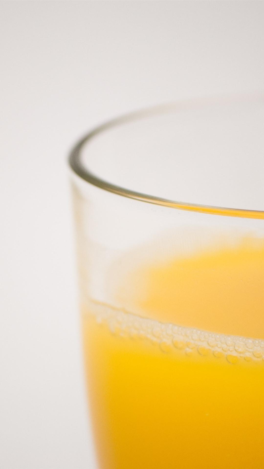 Orange juice glass cup