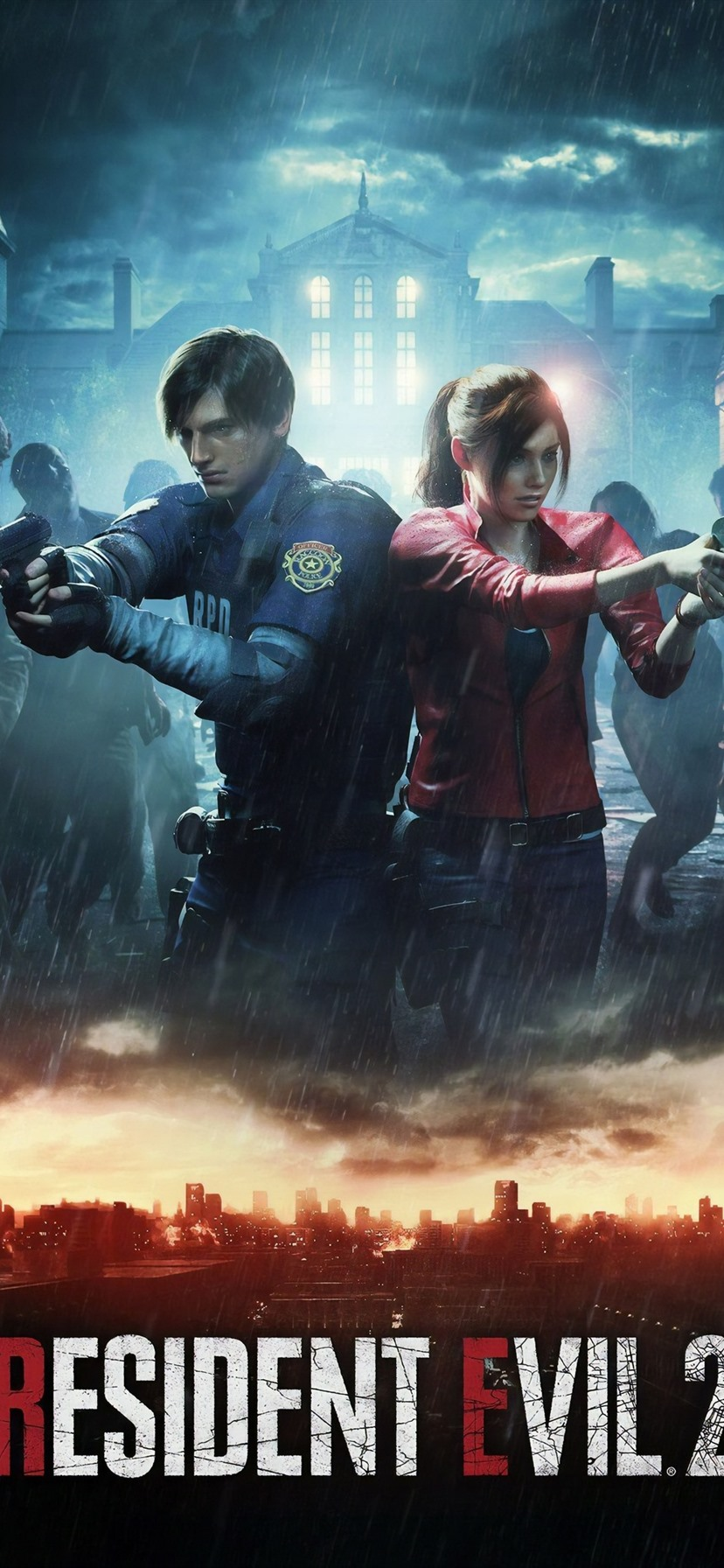 Wallpaper Resident Evil 2 Remake Ps4 Game Rain Zombies