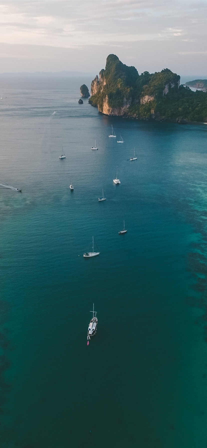Sea Yachts Coast Top View 1242x2688 Iphone 11 Pro Xs Max Wallpaper Background Picture Image