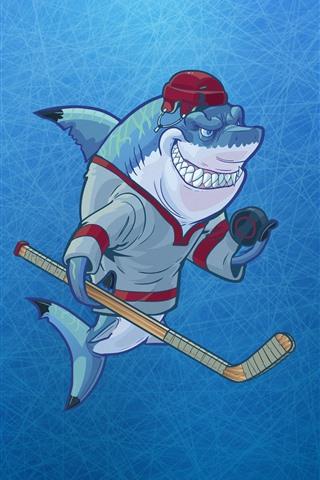iPhone Wallpaper Shark, teeth, art picture