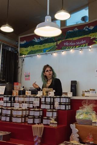 iPhone Wallpaper Shop, girl, lights
