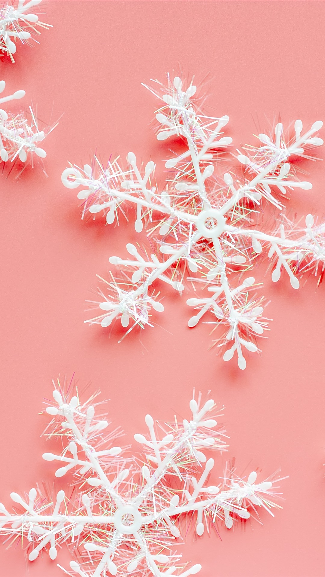 Snowflakes pink background
