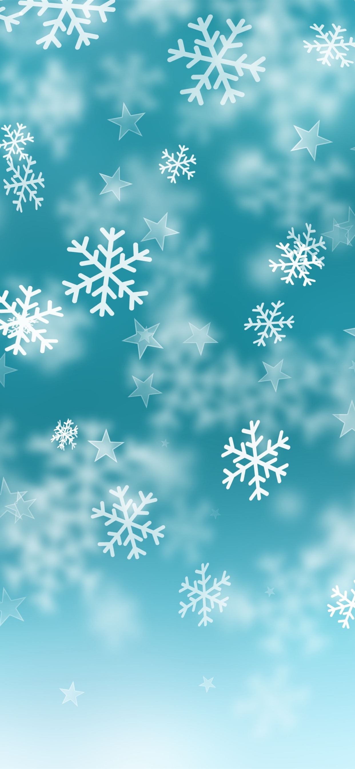 Snowflakes Stars Blue Background 1242x2688 Iphone Xs Max